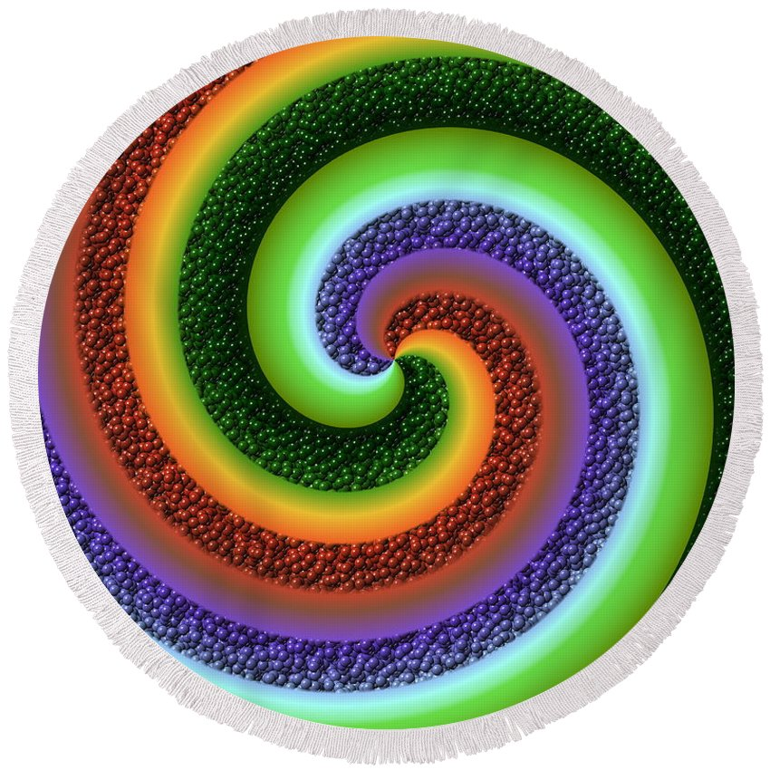 Swirl Round Beach Towel featuring the digital art Skettles by Ron Hedges