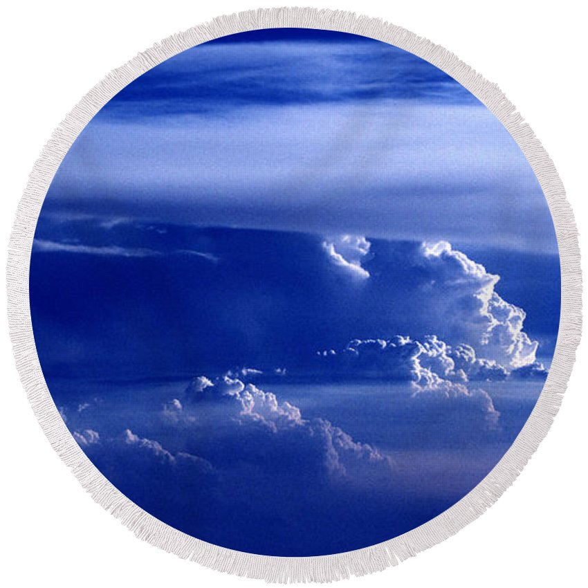 Sky Round Beach Towel featuring the photograph Sky From Above - 5026 by Paul W Faust - Impressions of Light