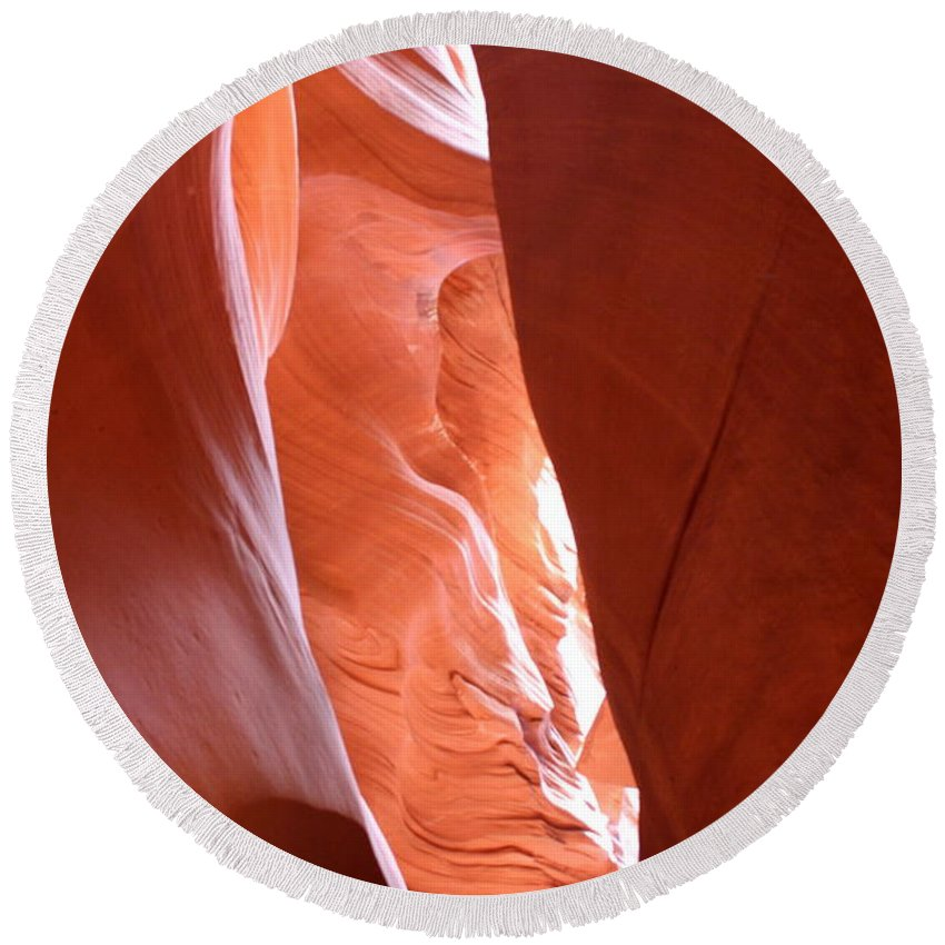Slot Canyon Round Beach Towel featuring the photograph Antelope Slot Canyon by Christiane Schulze Art And Photography