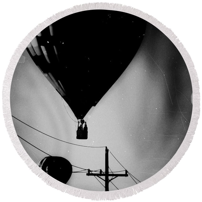 Black Round Beach Towel featuring the photograph Slums Have A View by Jessica Shelton