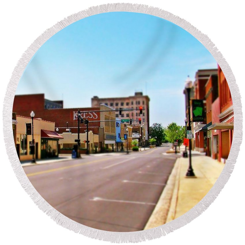 Fine Art Round Beach Towel featuring the photograph Small Town by Rodney Lee Williams