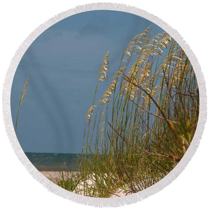 Beach Round Beach Towel featuring the photograph Smell The Salt Air by Dale Powell