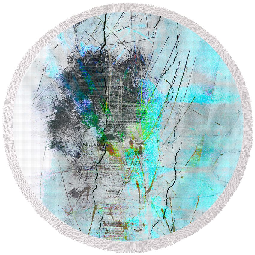 Abstract Round Beach Towel featuring the photograph Smells Of Rain by The Artist Project