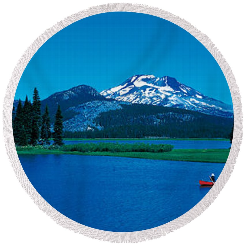South Sister Round Beach Towels