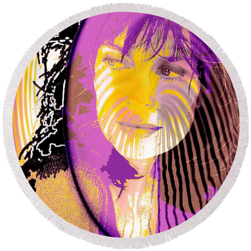 Sphere Of Influence Round Beach Towel featuring the digital art Sphere Of Influence by Seth Weaver
