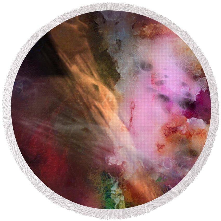 Frank Herbert Round Beach Towel featuring the digital art Spice Dream by David Derr