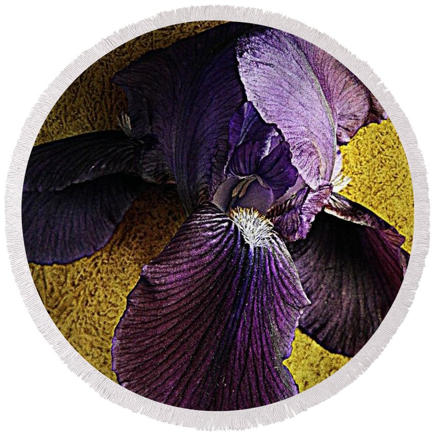 Nature Round Beach Towel featuring the photograph Spring Finery by Chris Berry