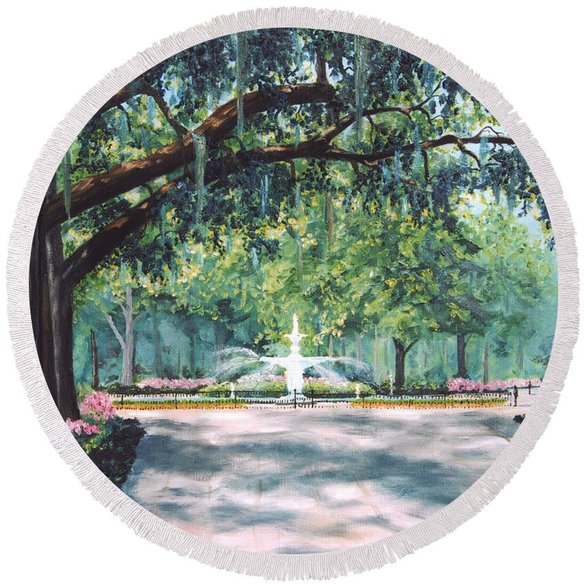 Savannah Round Beach Towels
