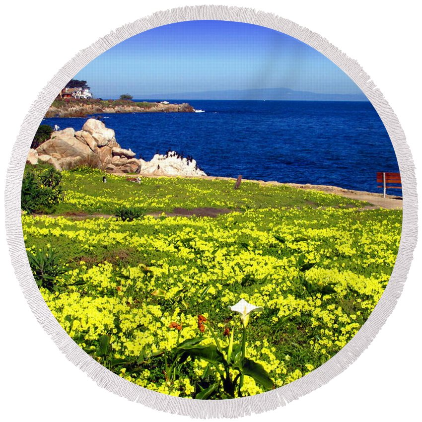 Spring Round Beach Towel featuring the photograph Spring In Pacific Grove Ca by Joyce Dickens