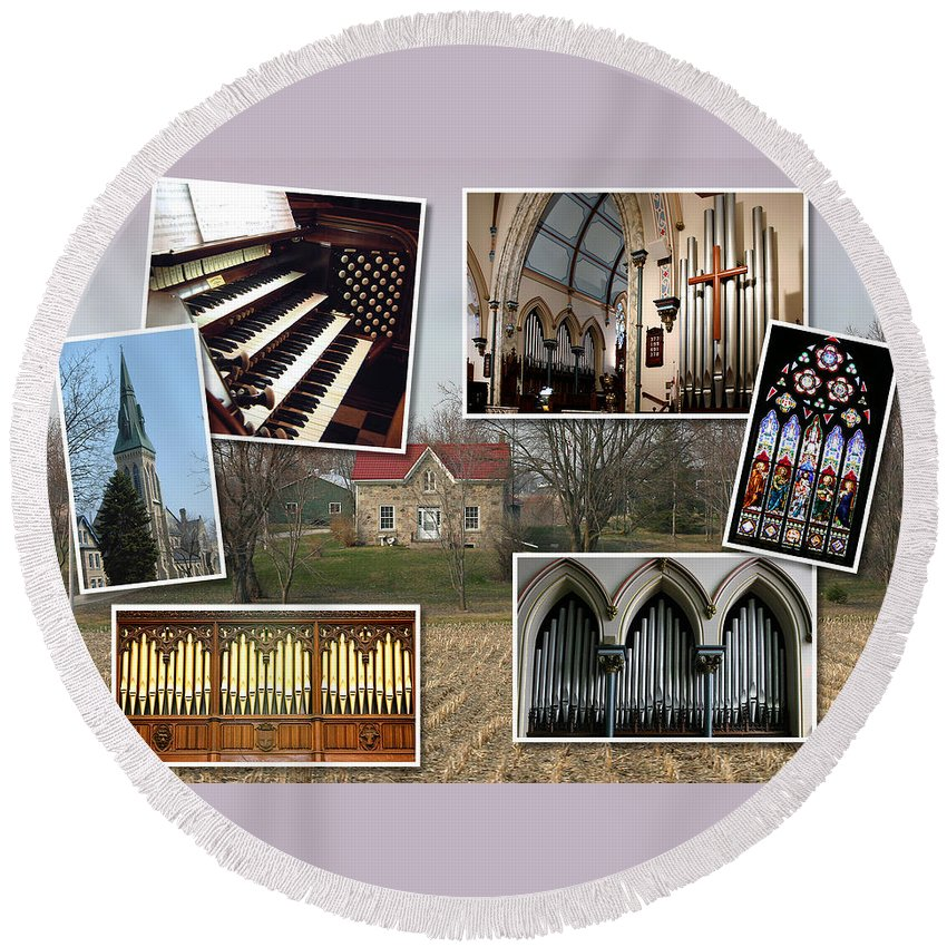 Guelph Round Beach Towel featuring the photograph St George's Guelph by Jenny Setchell
