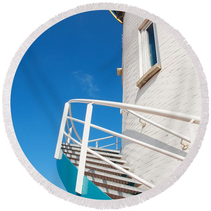 Architectural Round Beach Towel featuring the photograph Stairway To Heaven. by Jan Brons