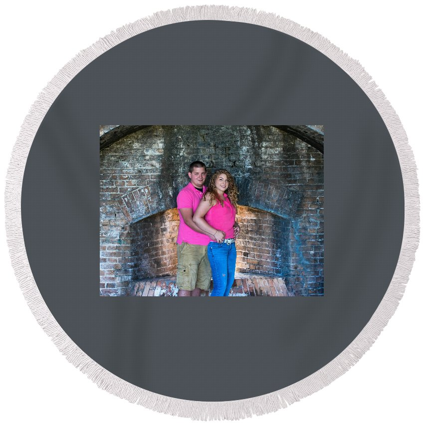 Portraits Round Beach Towel featuring the photograph Stearns 4 by Mechala Matthews