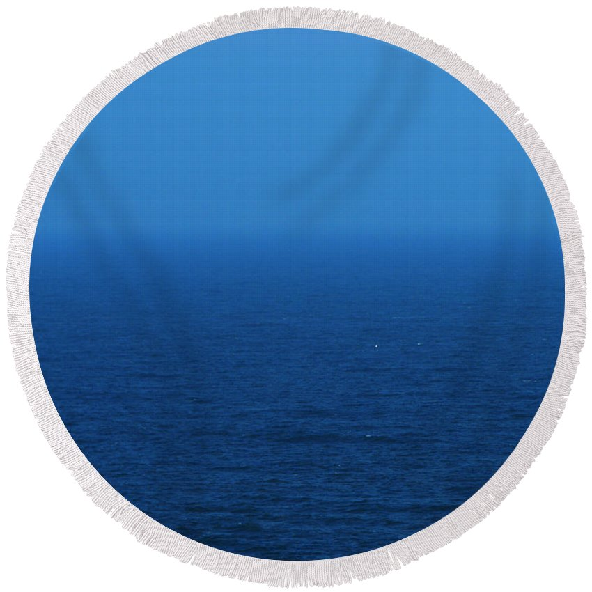 Blue Round Beach Towel featuring the photograph Stepping Into A Dream by Amanda Barcon