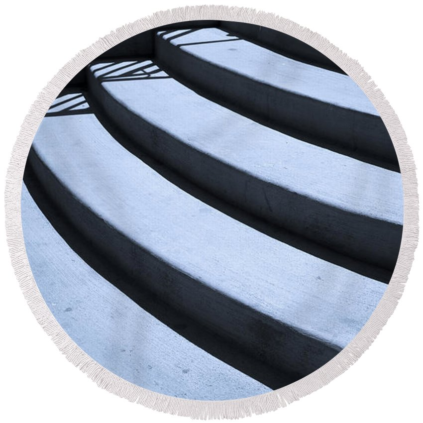 Steps Round Beach Towel featuring the photograph Steps by Madeline Ellis