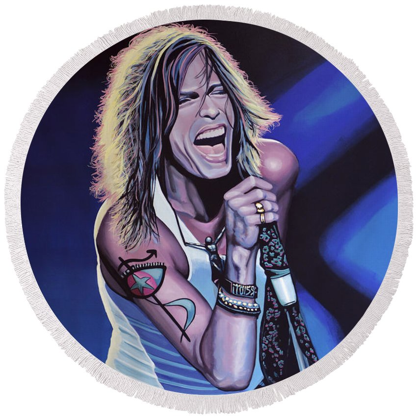 Steven Tyler Round Beach Towels