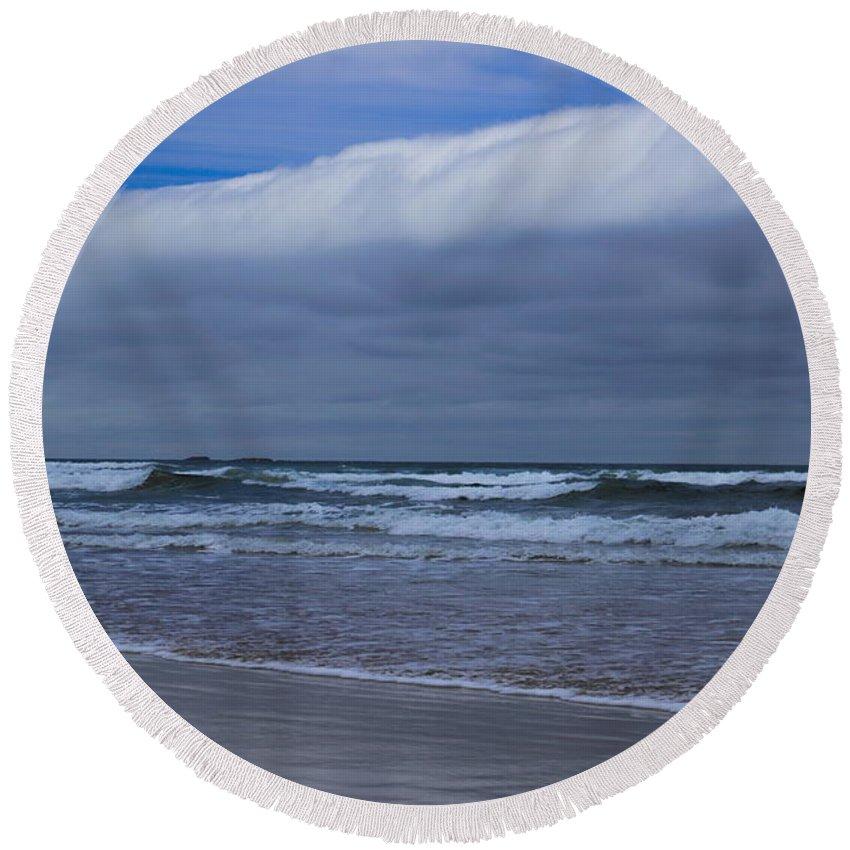 Dale Kauzlaric Round Beach Towel featuring the photograph Storm Cloud by Dale Kauzlaric