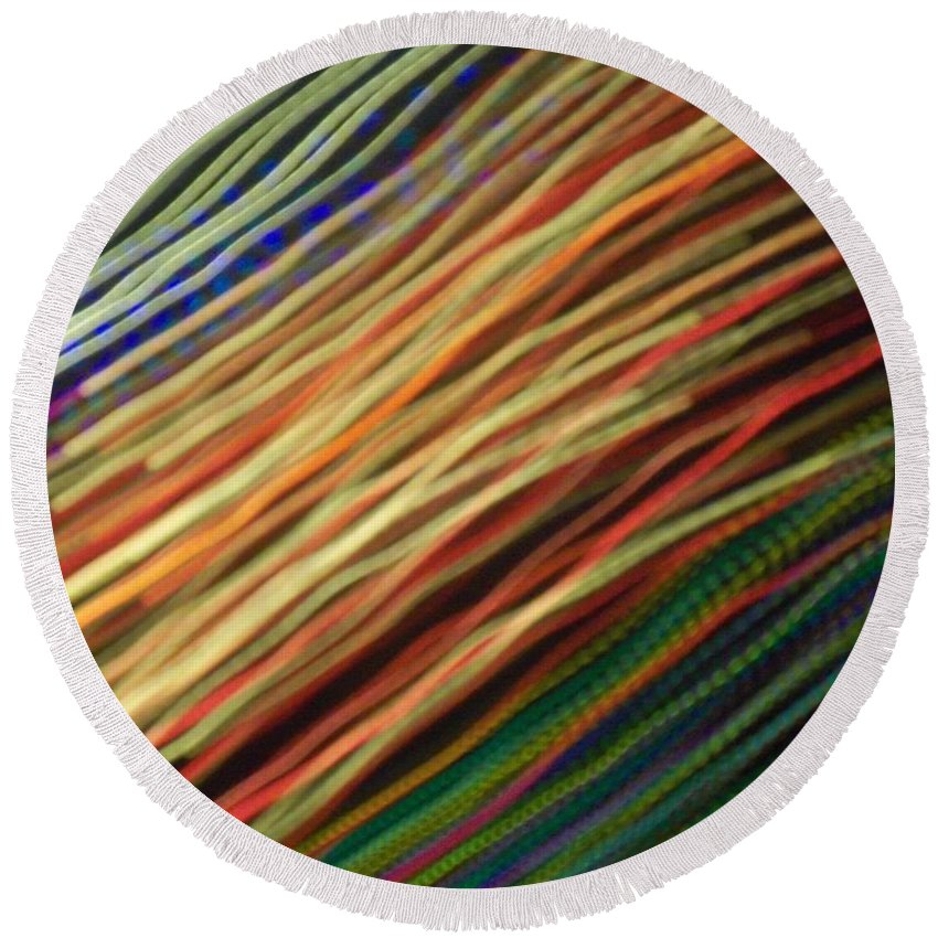 Round Beach Towel featuring the photograph Streamers by Jessica Flieg