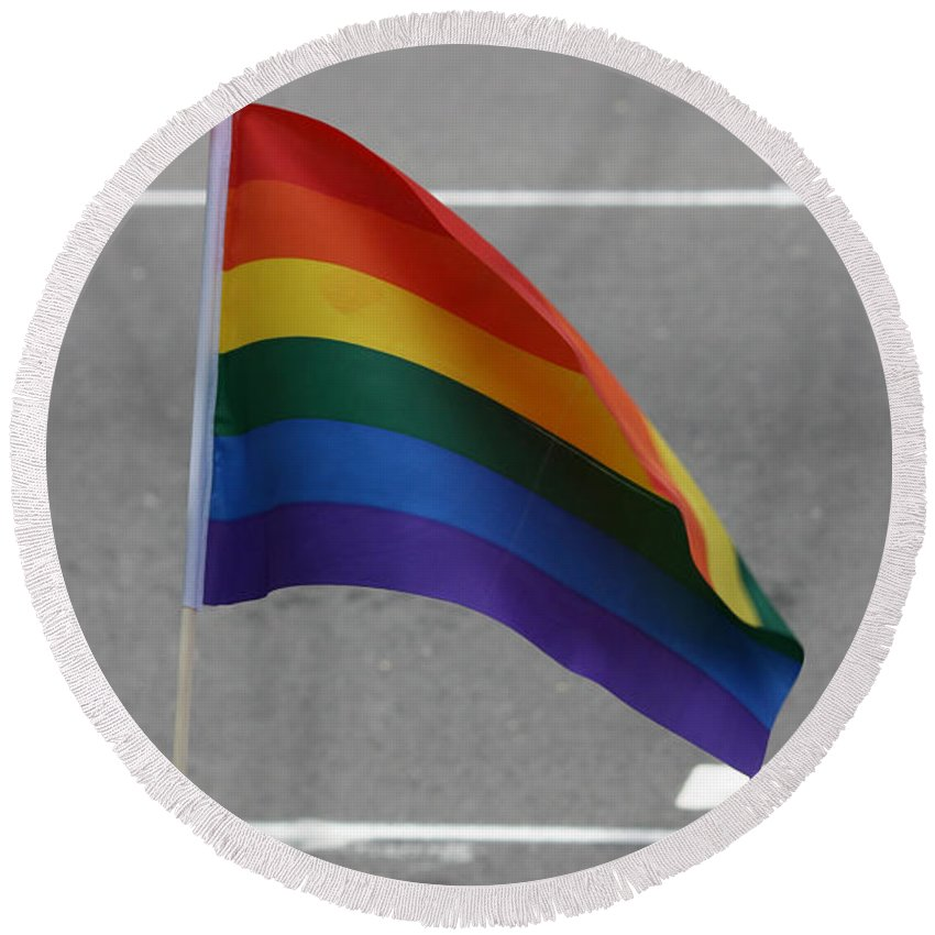 Pride Festival Round Beach Towel featuring the photograph Streets Of Pride by The Artist Project