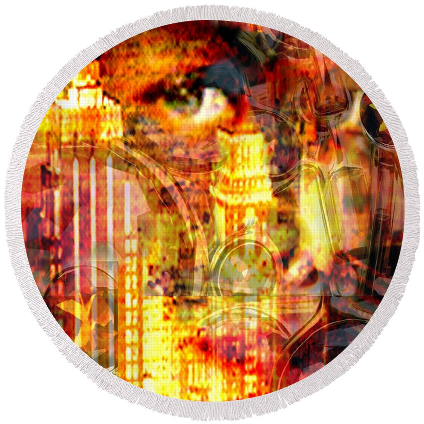 Big City Round Beach Towel featuring the photograph Streetwalker by Seth Weaver