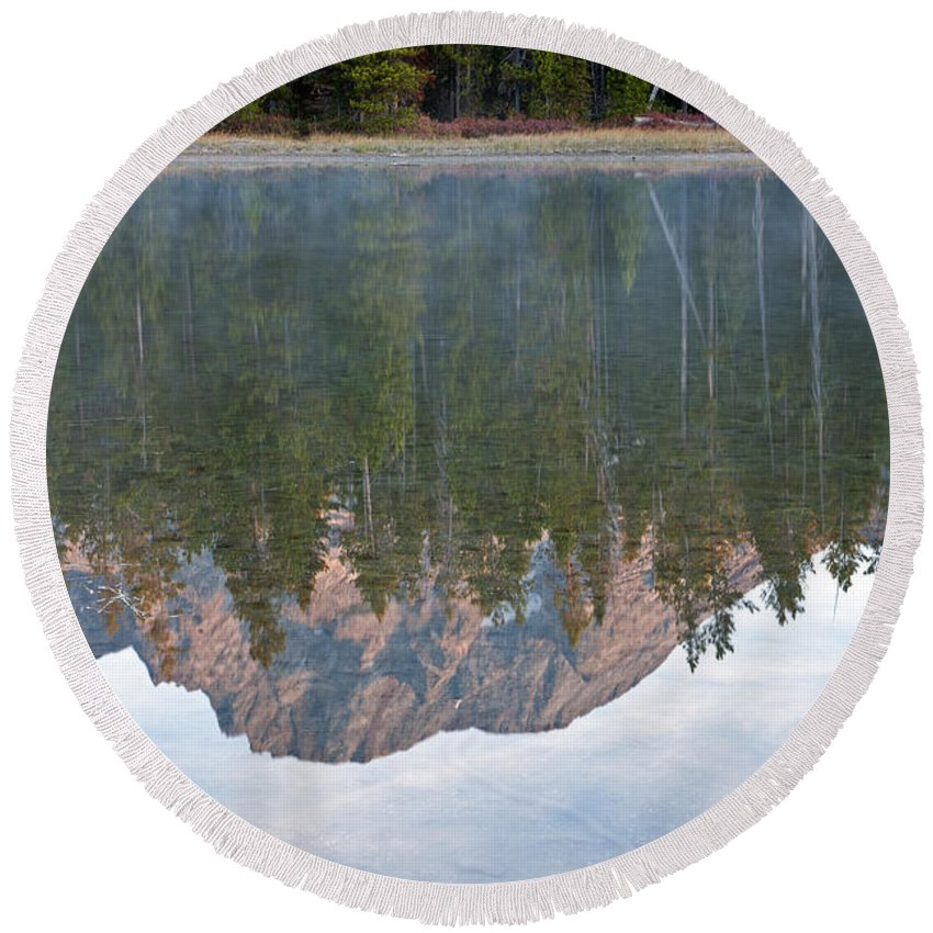 Grand Teton Np Round Beach Towel featuring the photograph String Lake Grand Teton National Park by Fred Stearns