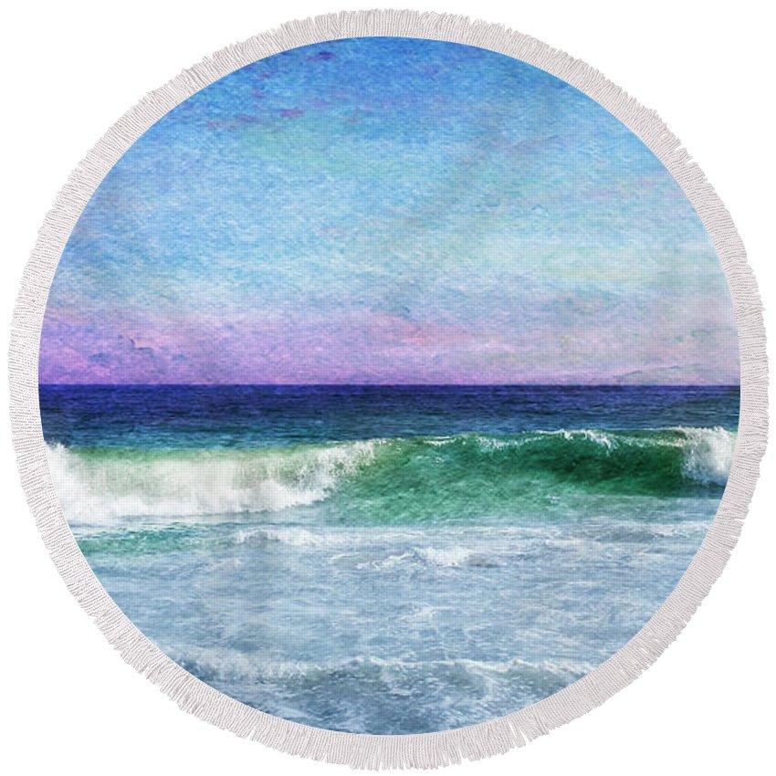 Beach Round Beach Towel featuring the photograph Summer Salt by Laura Fasulo