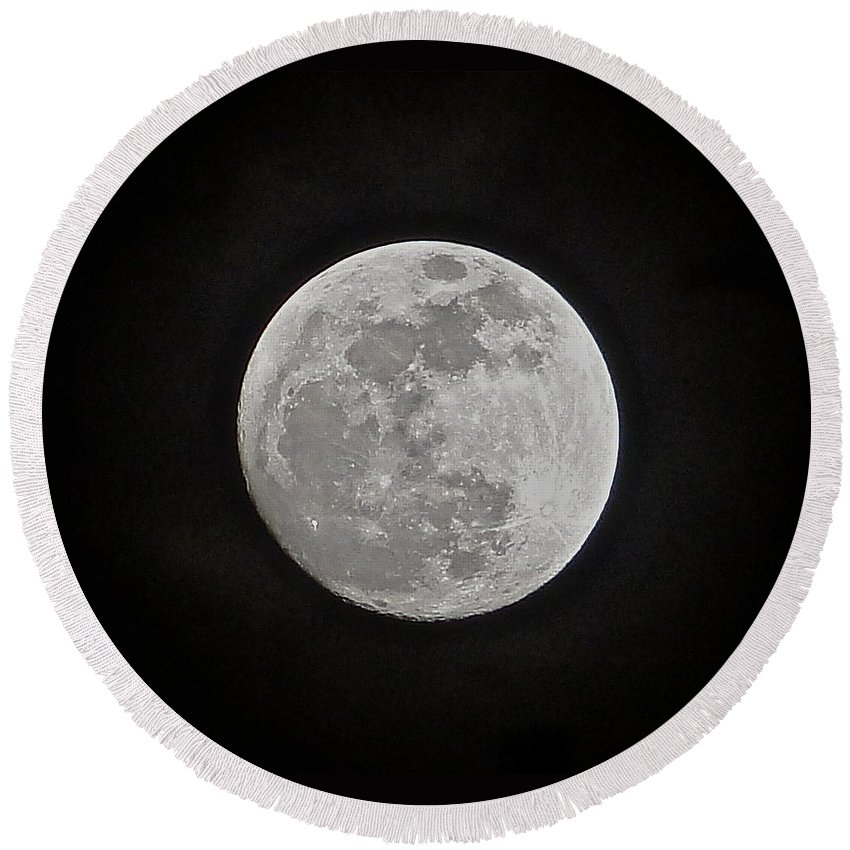 Moon Round Beach Towel featuring the photograph Summer Solstice by Charlie and Norma Brock