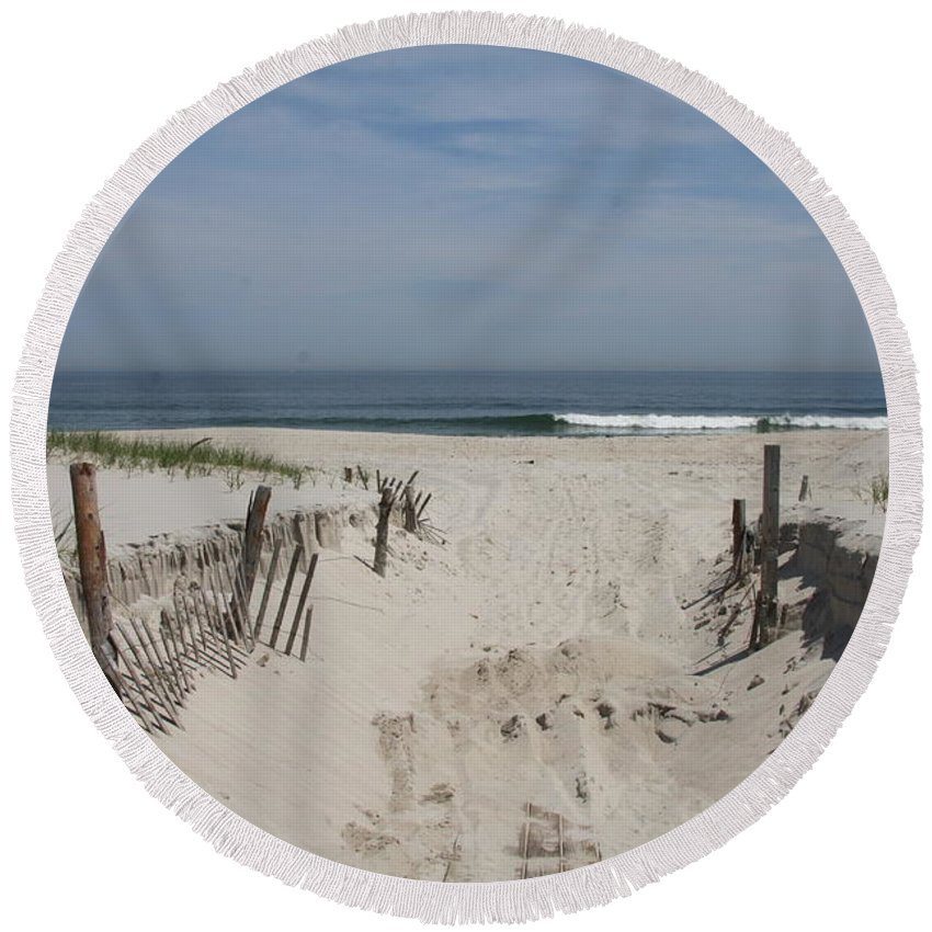 Beach Round Beach Towel featuring the photograph Sun And Sand by Christiane Schulze Art And Photography