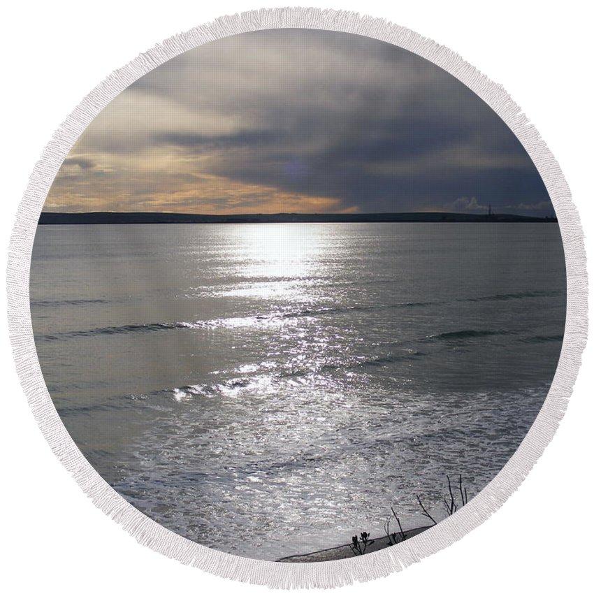 Beach Round Beach Towel featuring the photograph Sunset Over Calypso Beach by Jennifer Van Niekerk