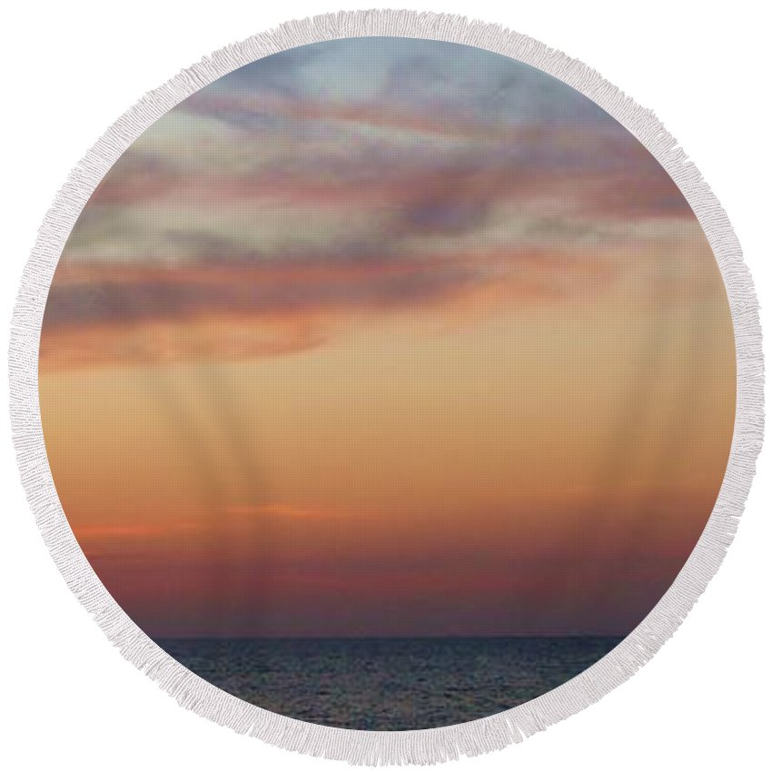 Color Round Beach Towel featuring the photograph Sunshade by Amar Sheow