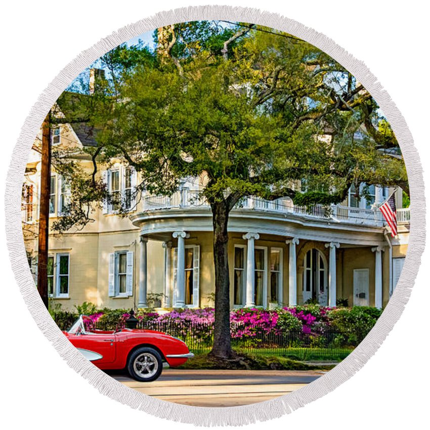 Home Round Beach Towel featuring the photograph Sweet Home New Orleans 3 by Steve Harrington