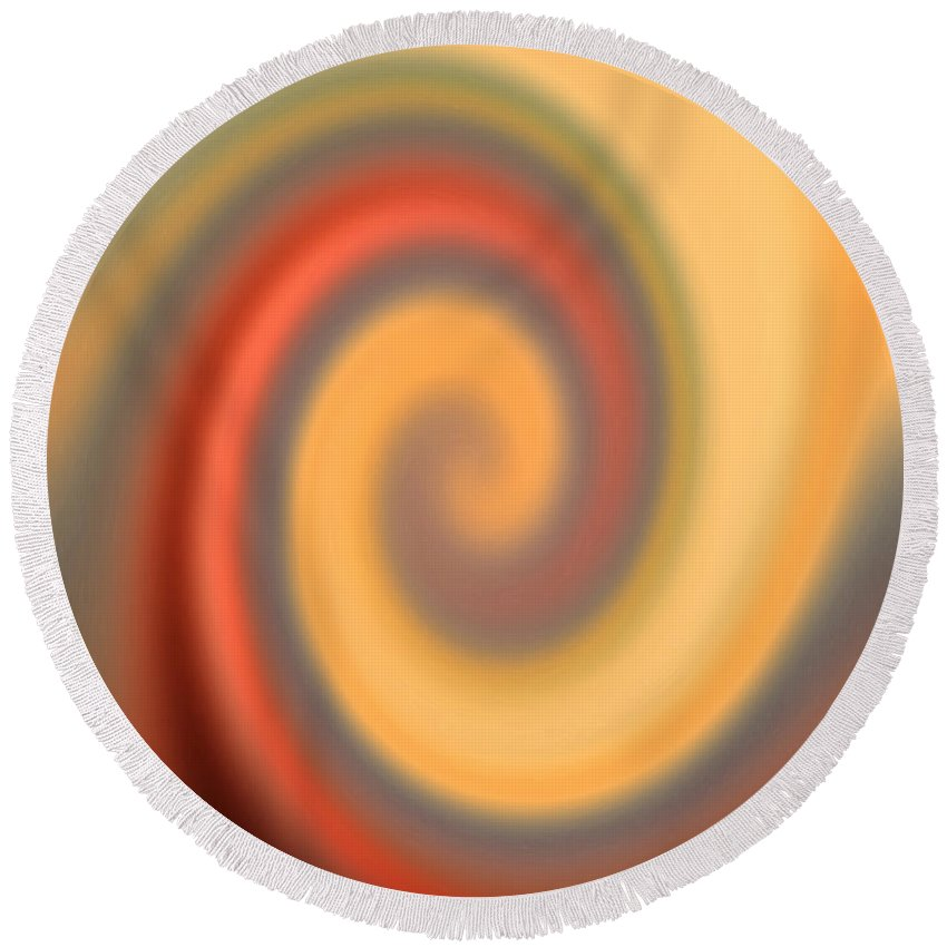 Swirl Round Beach Towel featuring the digital art Swirly Abstract by Debbie Portwood