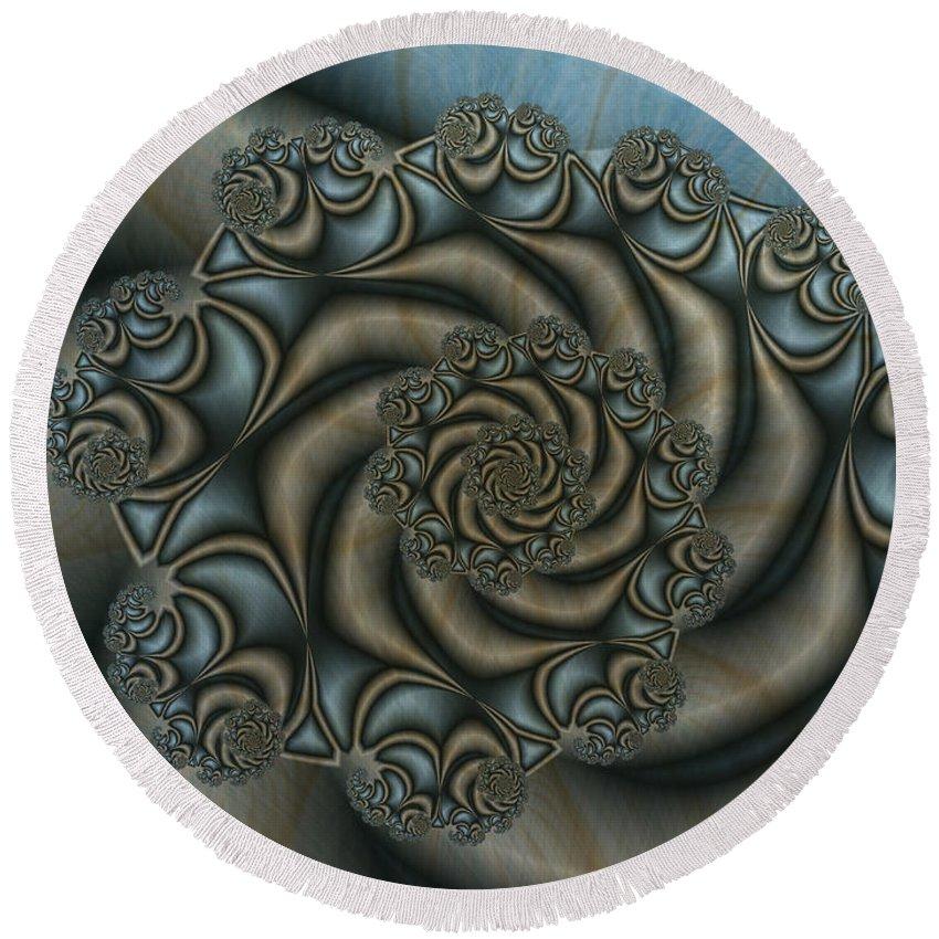 Digital Art Round Beach Towel featuring the digital art Symbiosis by Gabiw Art