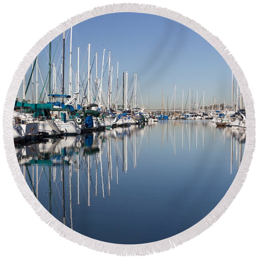 Amazing Round Beach Towel featuring the photograph Symmetry by Heidi Smith