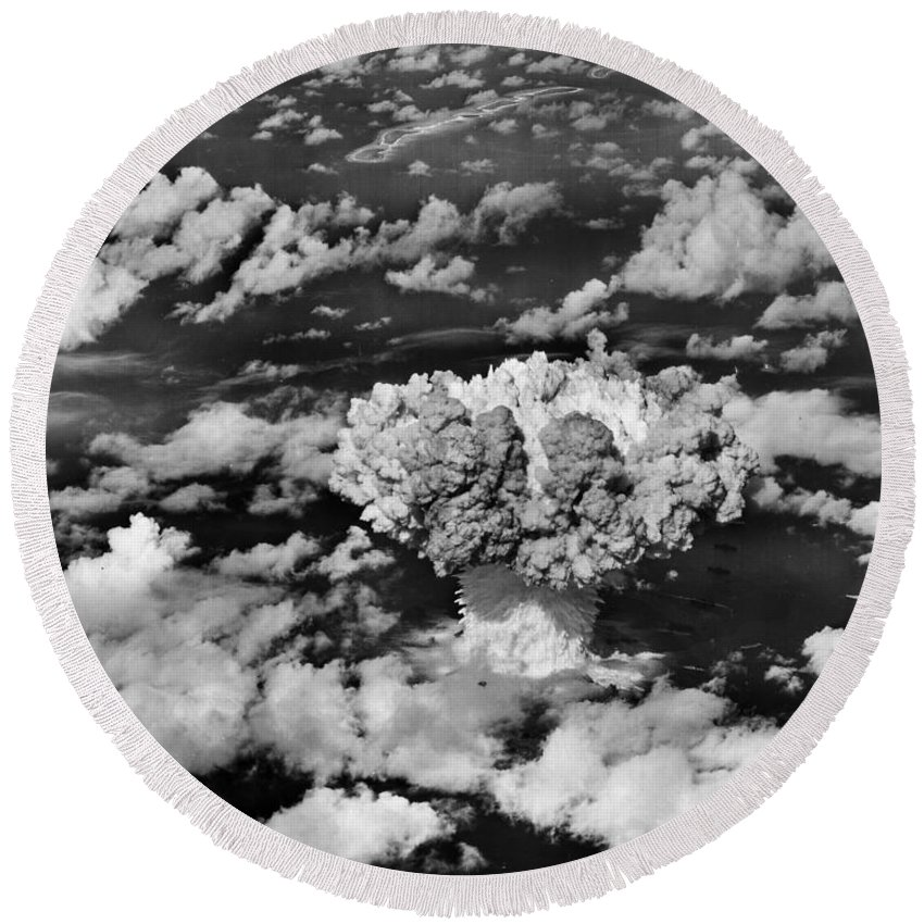 Atomic Round Beach Towel featuring the photograph Test Baker by Benjamin Yeager