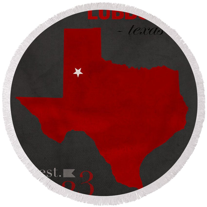 Map Of Texas Tech.Texas Tech University Red Raiders Lubbock College Town State Map
