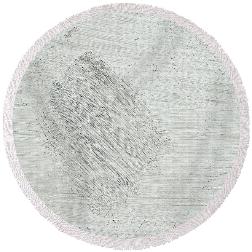Abstract Round Beach Towel featuring the photograph Textured Stone Background by Tom Gowanlock