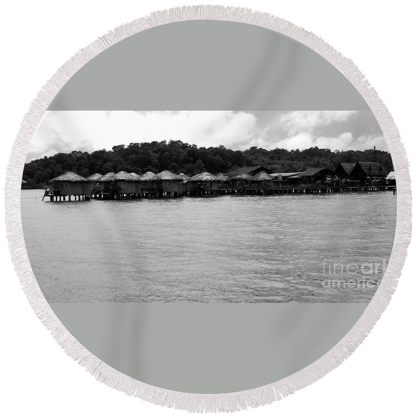 Thailand Round Beach Towel featuring the photograph Thai Village by Andrea Anderegg