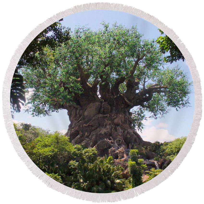 Animal Kingdom Round Beach Towel featuring the photograph The Amazing Tree Of Life by Lingfai Leung