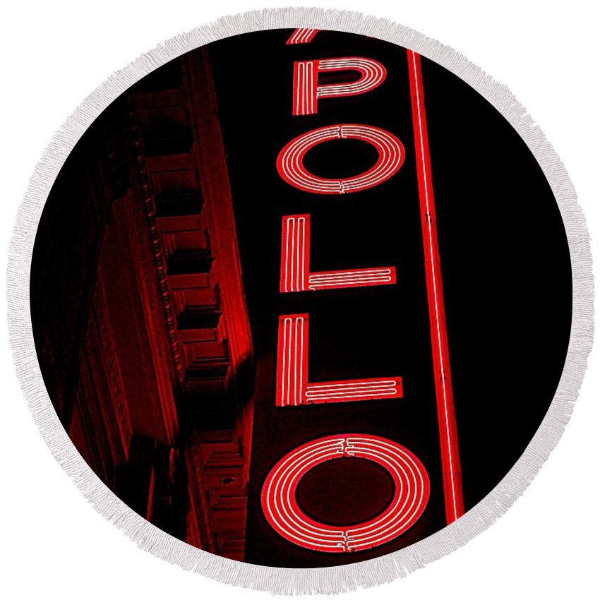 Apollo Theater Round Beach Towels