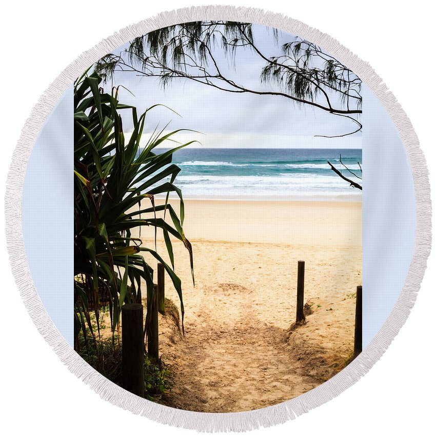 Beach Round Beach Towel featuring the photograph The Beach At Salt by Silken Photography