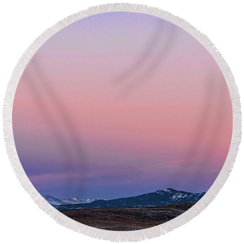 Belt Of Venus Round Beach Towel featuring the photograph The Belt Of Venus by Jon Burch Photography