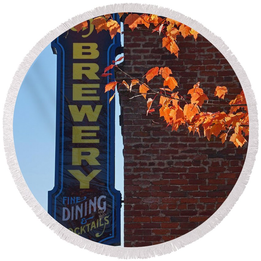 The Brewery Round Beach Towel featuring the photograph The Brewery by Mick Anderson