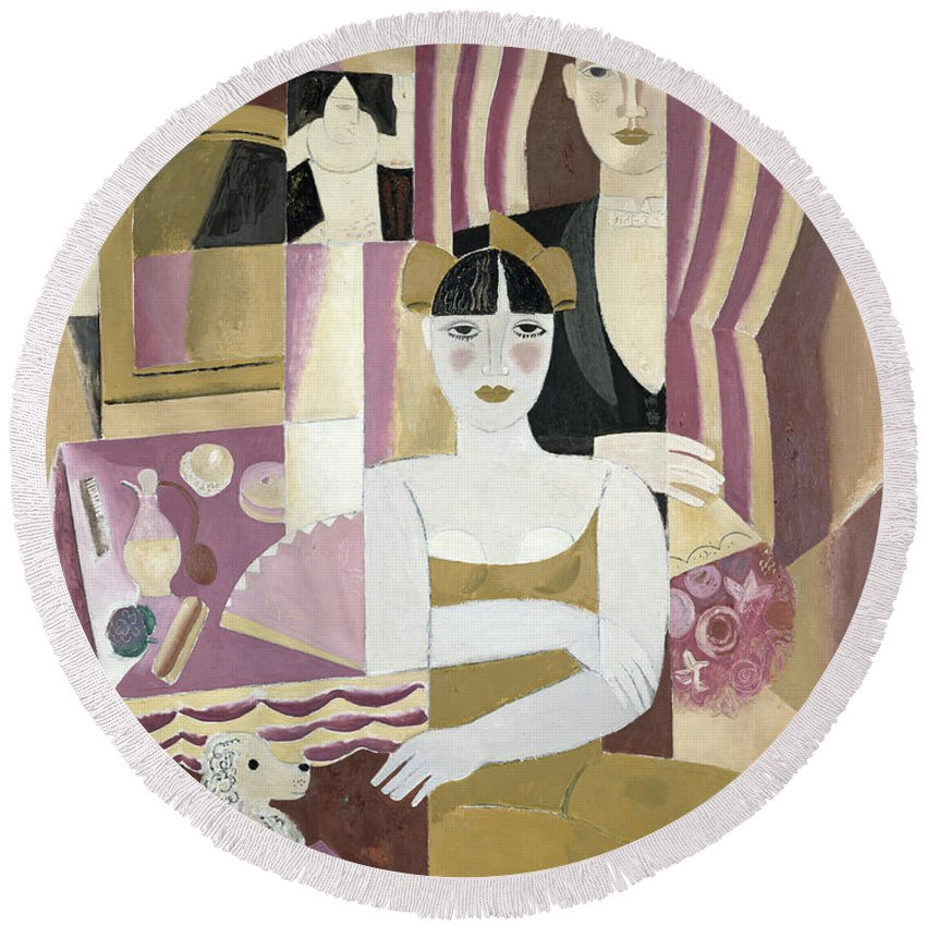 Theatre Round Beach Towel featuring the painting The Dressing Room by Gustave de Smet