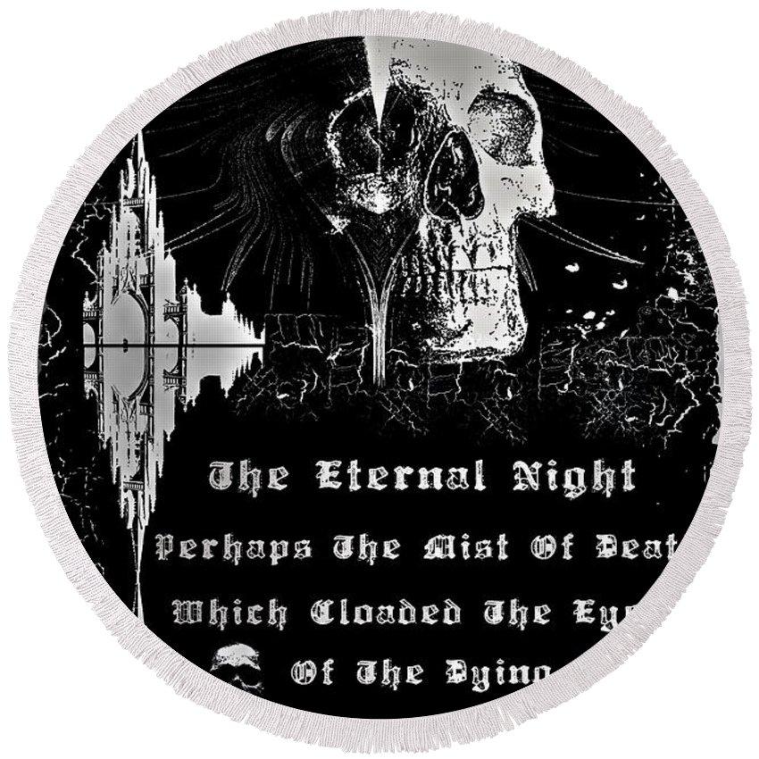 Eternal Round Beach Towel featuring the digital art The Eternal Night by Michael Damiani