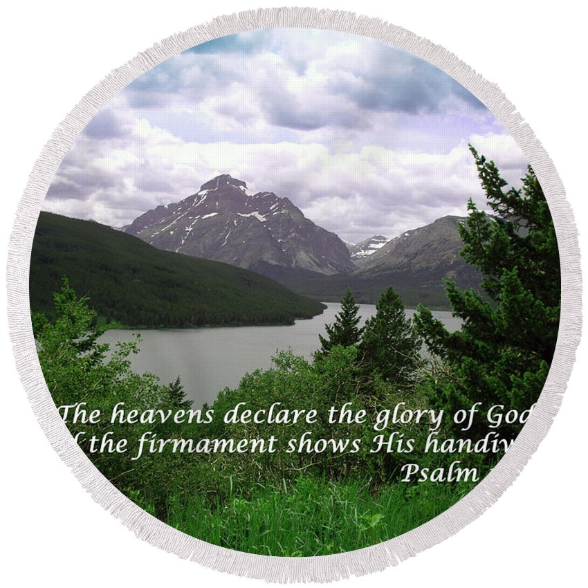 Landscape Round Beach Towel featuring the photograph The Firmament Psalm 19 1 by Barb Dalton