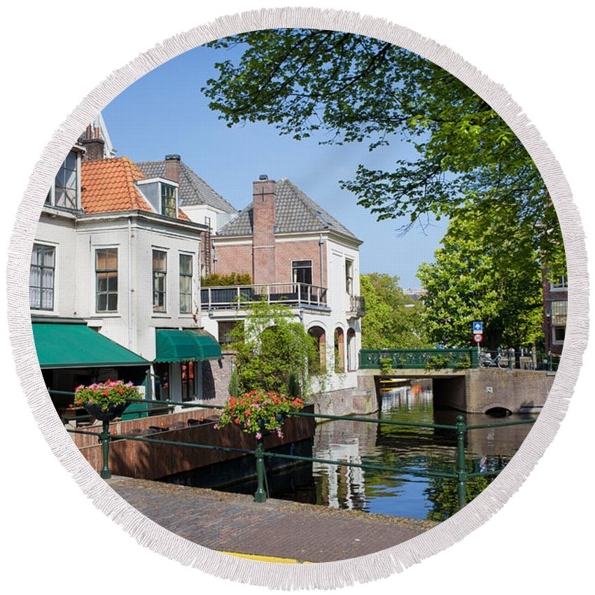 The Round Beach Towel featuring the photograph The Hague In The Netherlands by Artur Bogacki