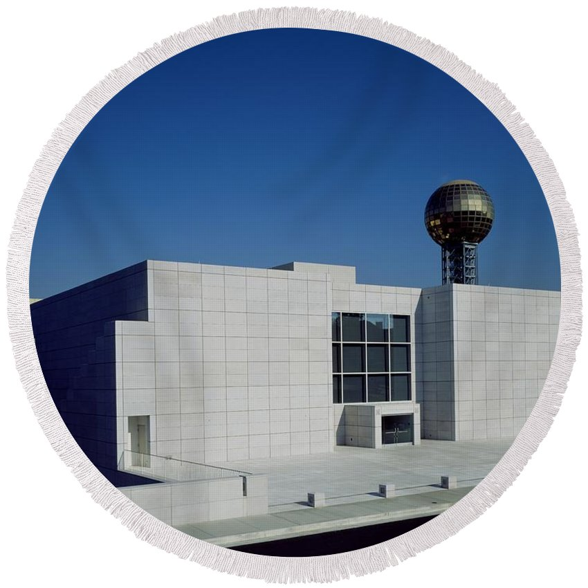 Knoxville Round Beach Towel featuring the photograph The Knoxville Museum Of Art by Mountain Dreams