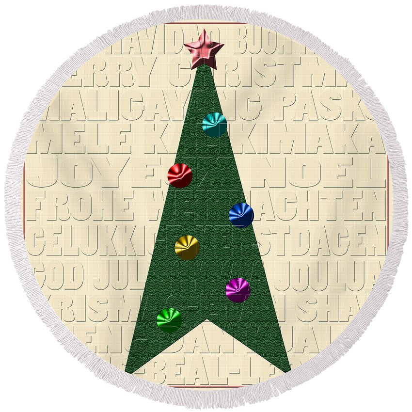 Xmas Round Beach Towel featuring the photograph The Language Of Christmas by Andrew Fare