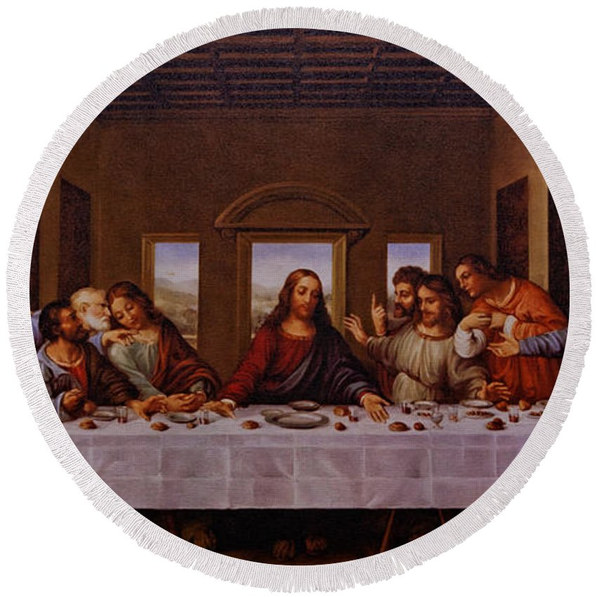 The Last Supper Round Beach Towel featuring the photograph The Last Supper by Jonathan Davison