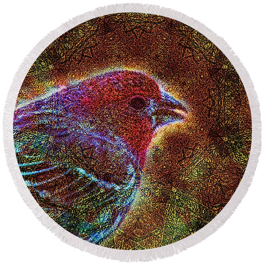 Birds Round Beach Towel featuring the photograph The Majesty Of Lil Things by Dale Crum
